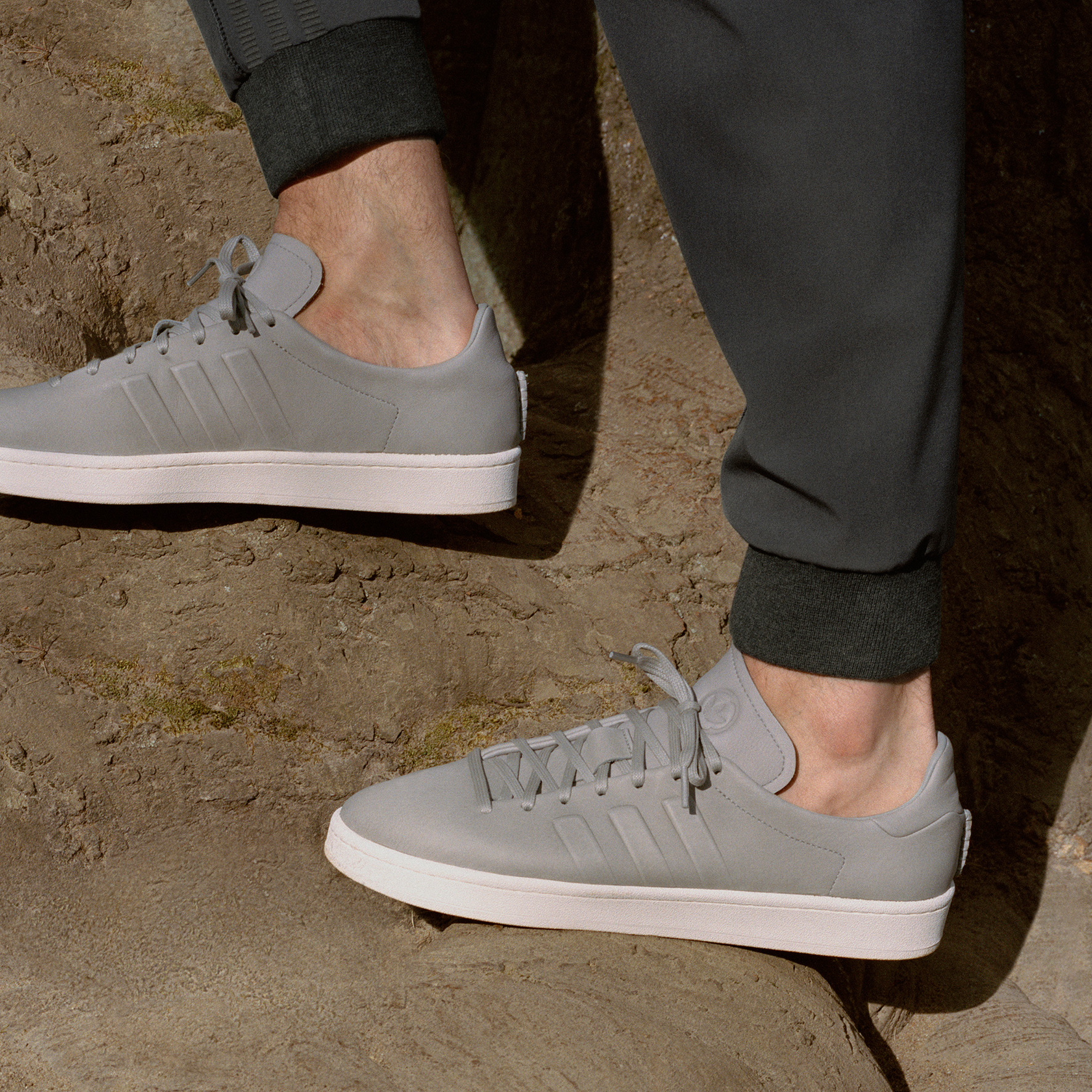 adidas x wings+horns, adidas originals, wings+horns, campus, grey leather shoes, fall fashion, boost,